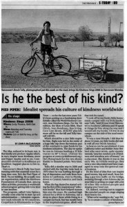 2008 The Province News Article about Brock's Cycle it Forward Tour