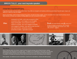 Brock Tully Keynote Speaker
